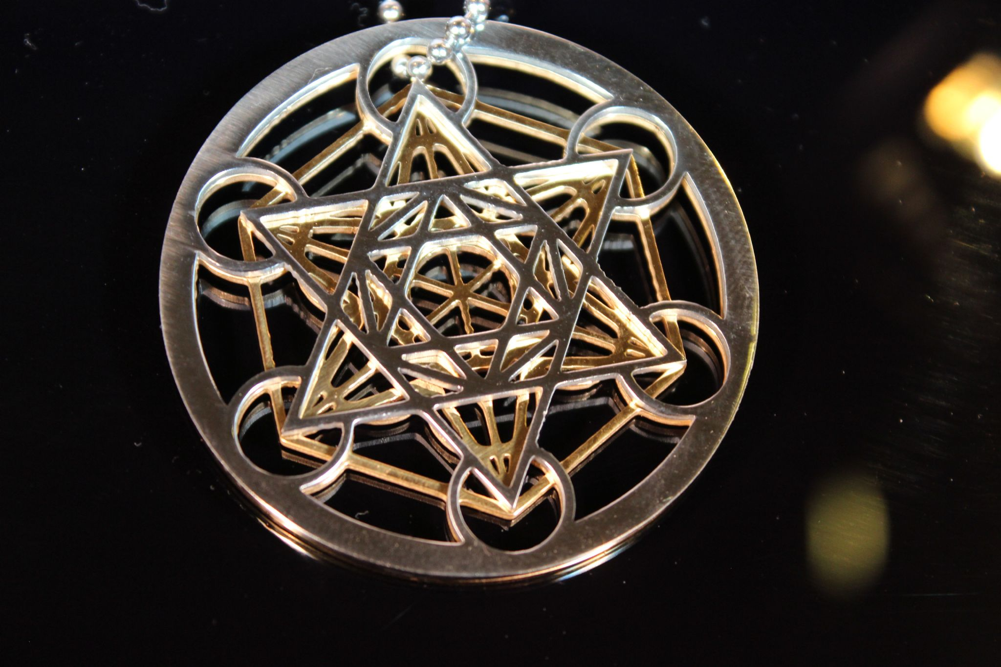 5g Protection Metatron Cube 3d Stainless Steel Pendant